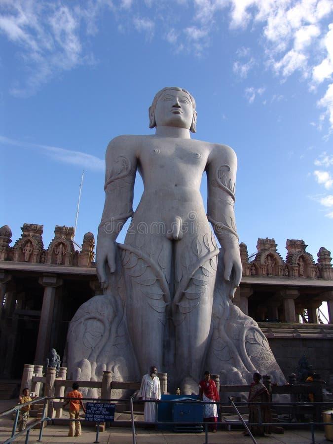 La statue de Gommateshvara Bahubali, Sravanabelagola, Inde image libre de droits