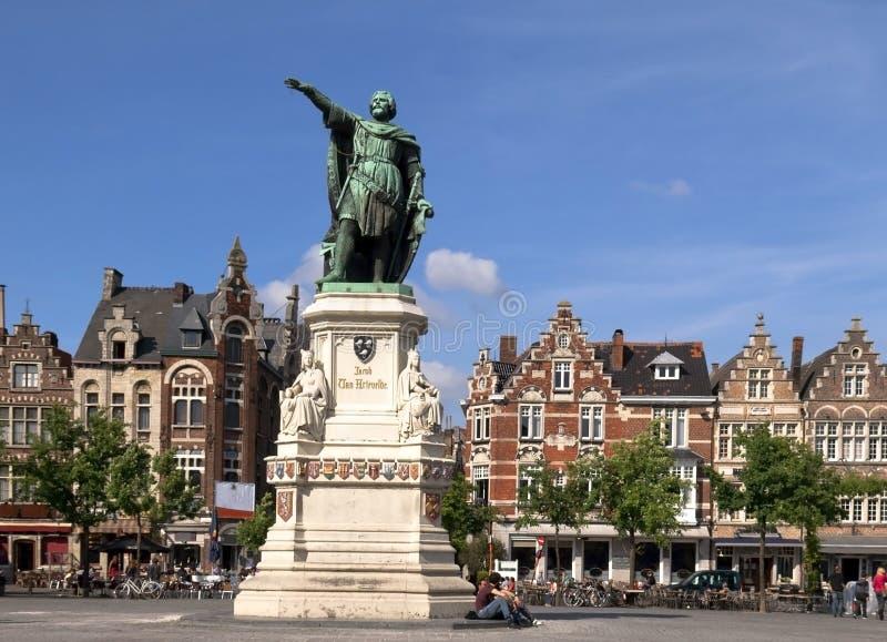 La statue de Jacob van Artevelde images stock