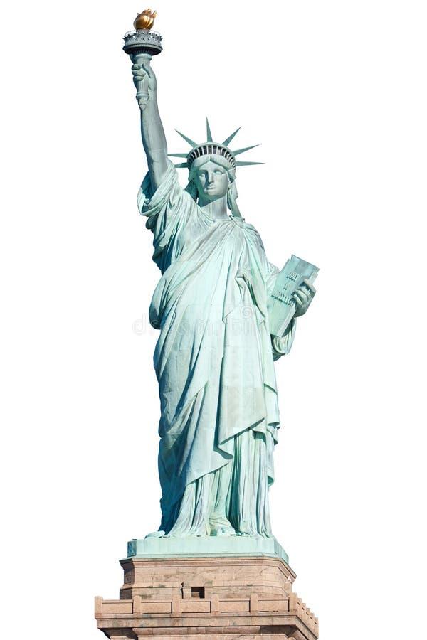 La statue de la liberté à New York a isolé, chemin de coupure photo stock