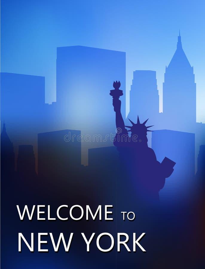 La statue de la liberté sur le fond des gratte-ciel photos stock