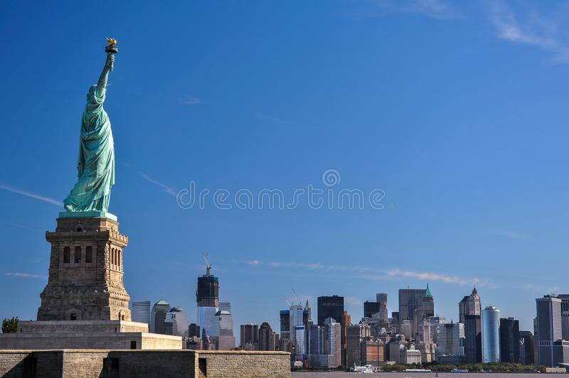 La statue de la liberté, points de repère de New York City image stock