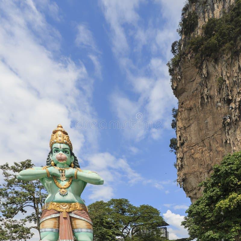 La statue de Lord Hanuman chez Batu foudroie, en Kuala Lumpur, la Malaisie photo stock
