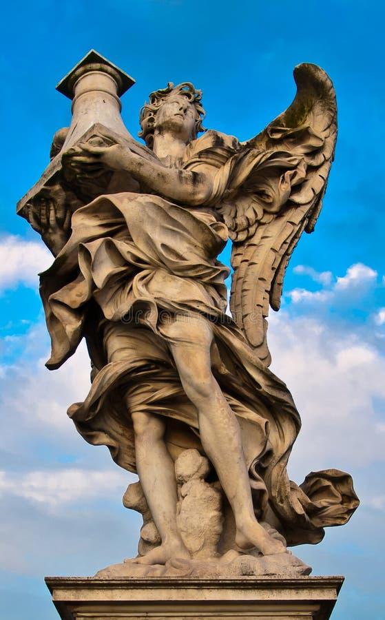 La statue de marbre de Bernini de l'ange images libres de droits
