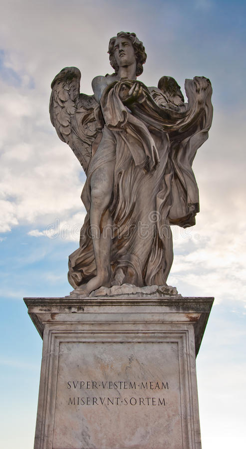 La statue de marbre de Bernini de l'ange photographie stock libre de droits