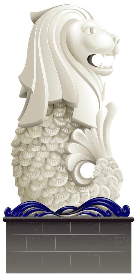 La statue de Merlion illustration de vecteur