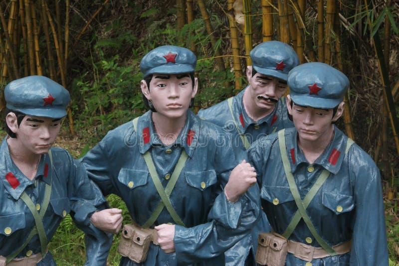 La statue de quatre soldats dans le ¼ Œshenzhen, porcelaine de Parkï d'armée rouge photos stock
