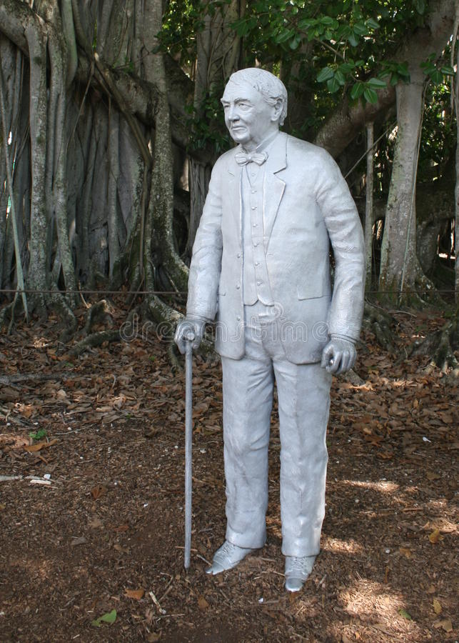 La statue de Thomas Edison images libres de droits