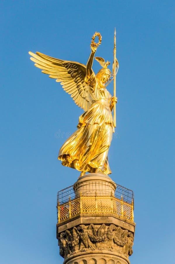 La statue de Victoria du Siegessaeule Victory Column photos stock