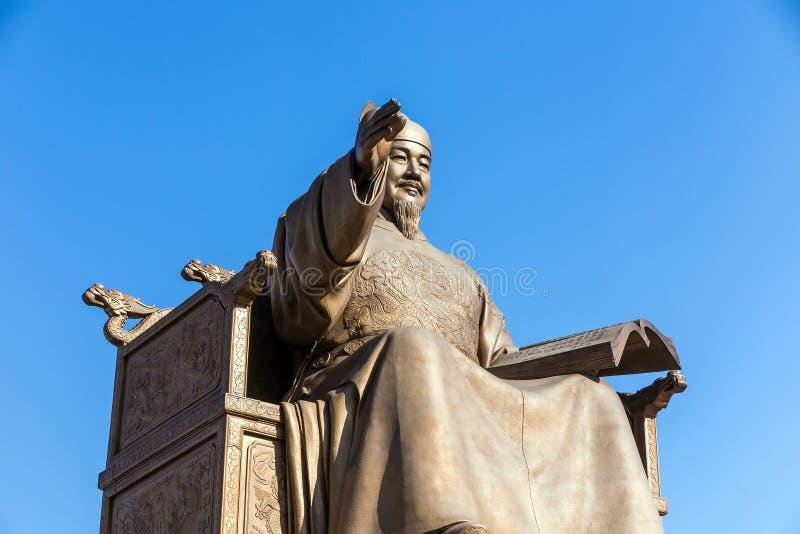 Download La statue du Roi Sejong photo stock. Image du empereur - 56478612