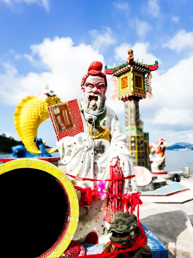 La statue légendaire de Dieu en romans d'imagination de la Chine est placent photos libres de droits