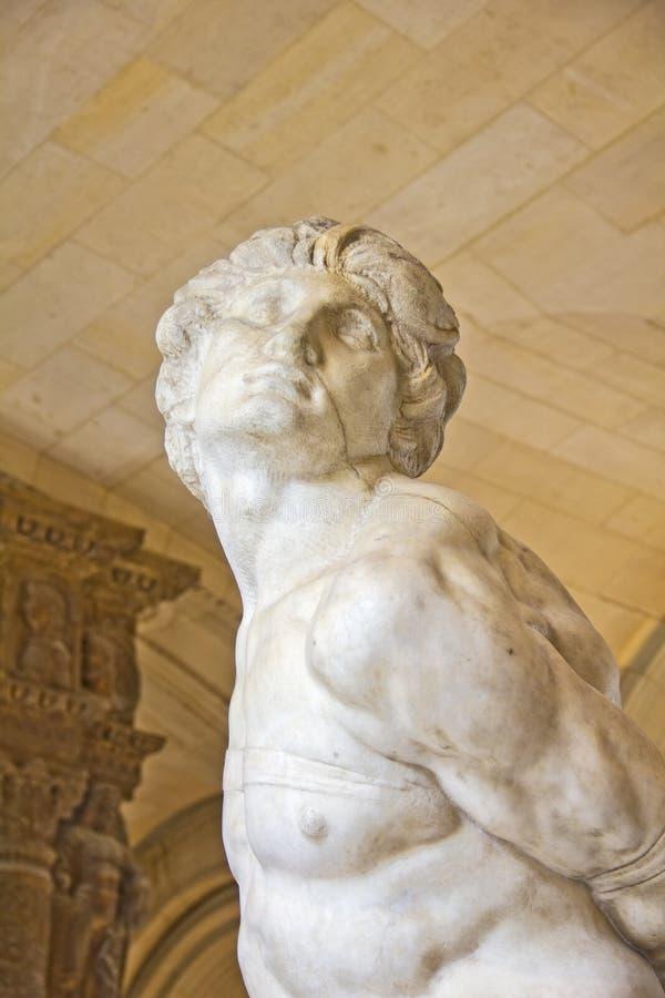 La statue mourante d'esclave par Michaël Angelo photos stock