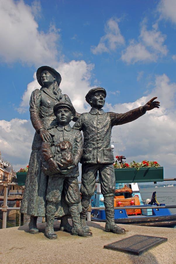 La statue la plus populaire dans la ville côtière de Cobh à la République de l'Irlande photos libres de droits