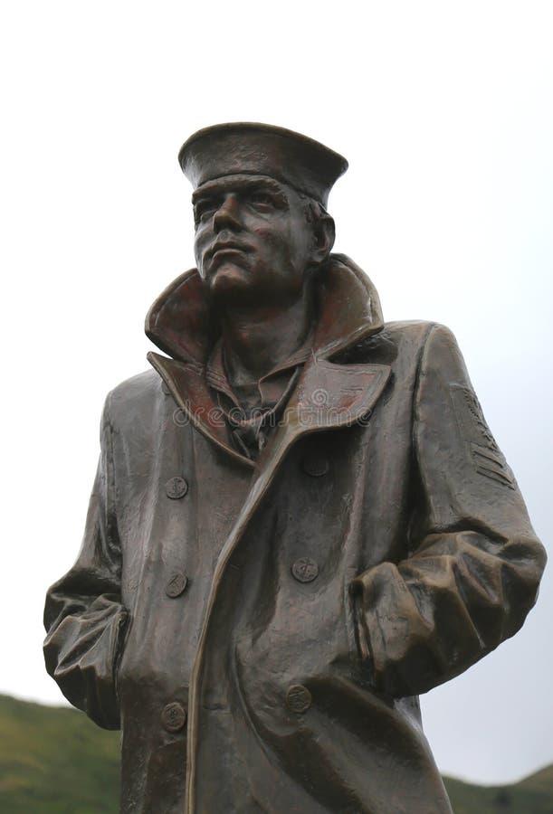 La statue solitaire de marin à San Francisco image libre de droits