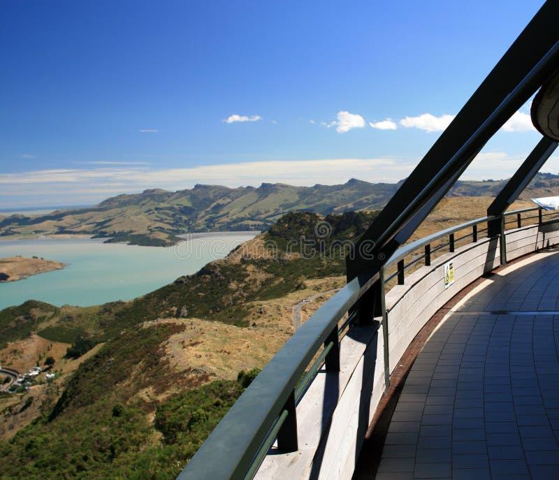 La stazione della parte superiore della gondola di Christchurch fotografie stock libere da diritti