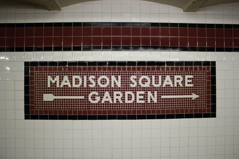 La stazione di metro di Madison Square Garden, NYC fotografie stock libere da diritti