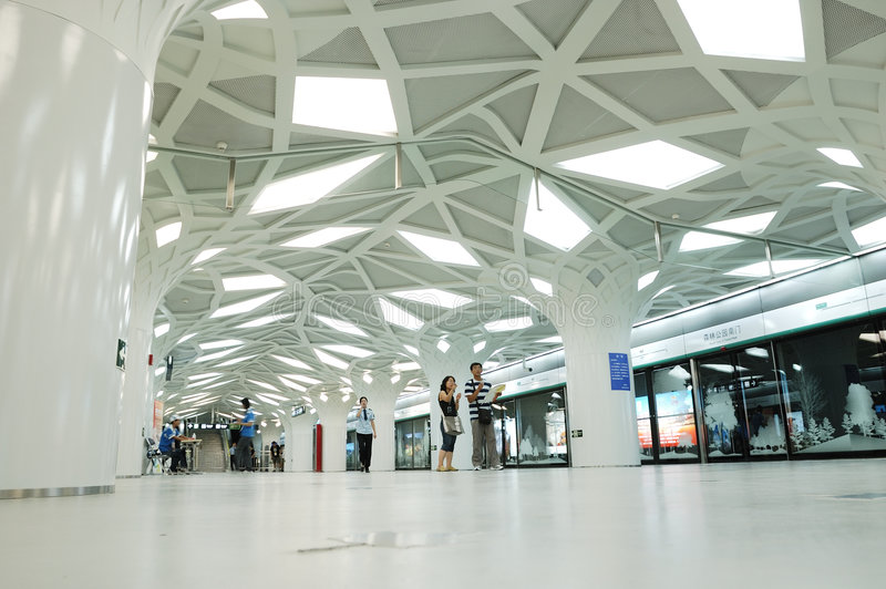 La stazione di metro di Olimpiadi fotografia stock libera da diritti
