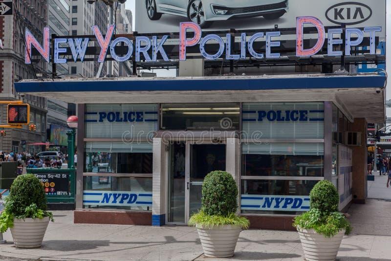 La stazione di NYPD quadra occasionalmente New York City fotografie stock libere da diritti