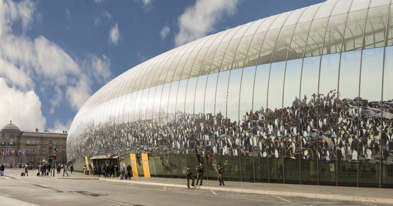 La stazione ferroviaria di Strasburgo (Gare de Strasburgo) immagini stock