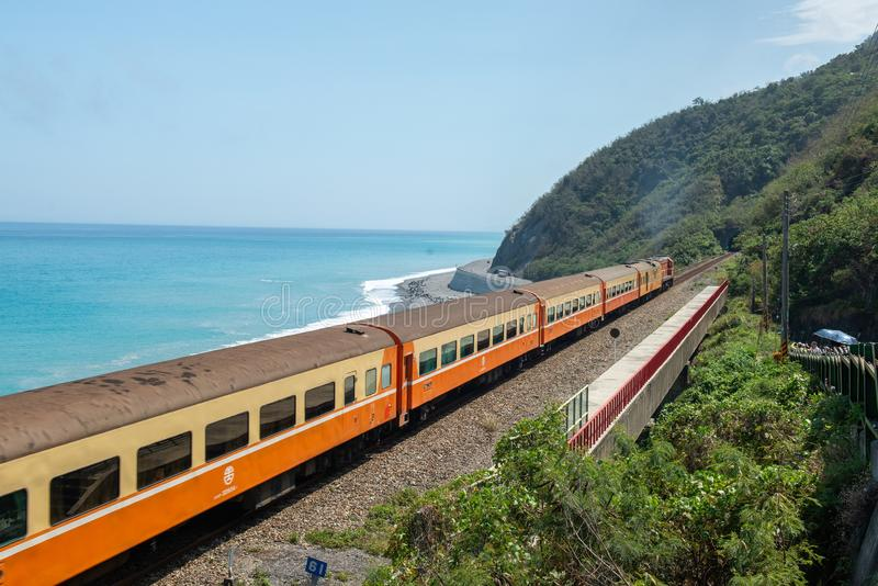 La stazione ferroviaria più bella di Taiwan - Duoliang immagini stock