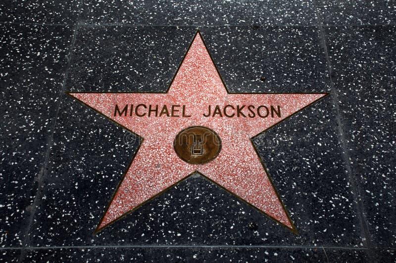 La stella del Michael Jackson immagini stock libere da diritti