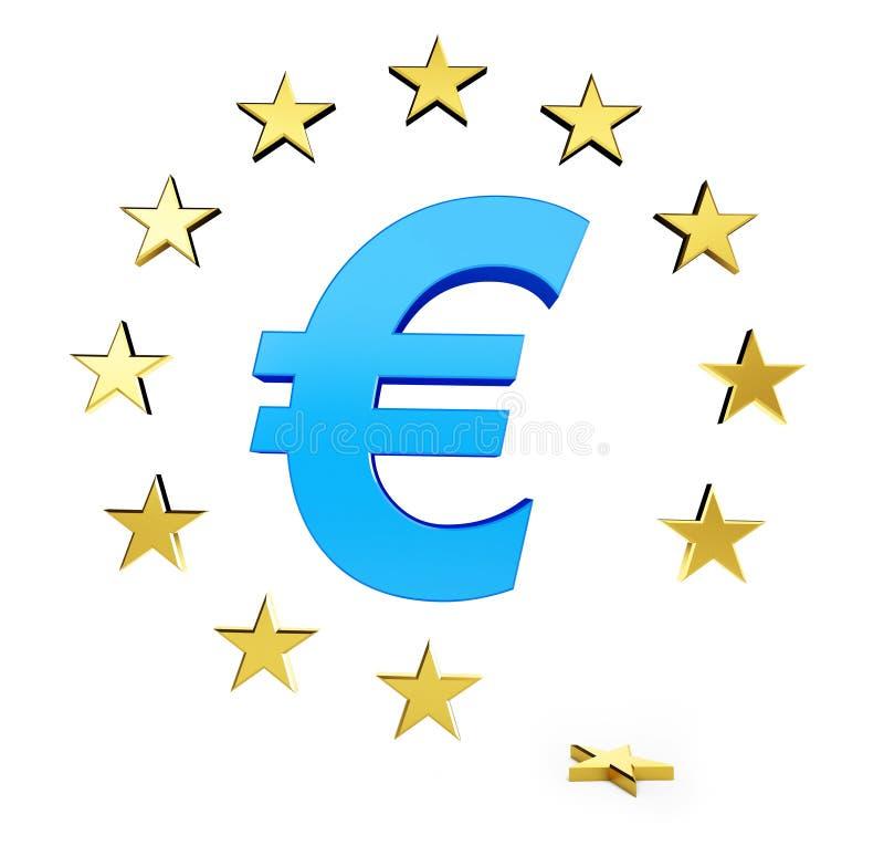 La stella del sindacato europeo è caduto illustrazione vettoriale