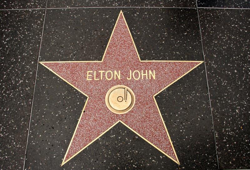 La stella di Elton John fotografia stock libera da diritti