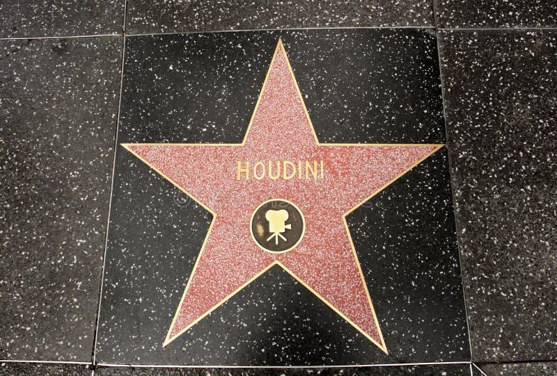 La stella di Harry Houdini fotografia stock libera da diritti