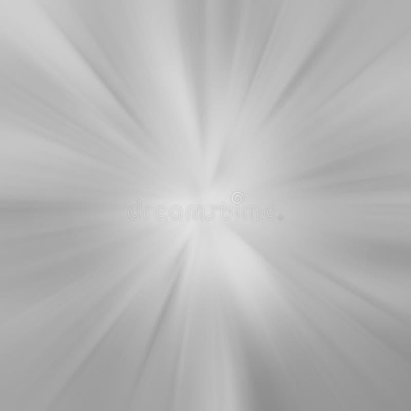 La stella grigia rays il fondo illustrazione di stock