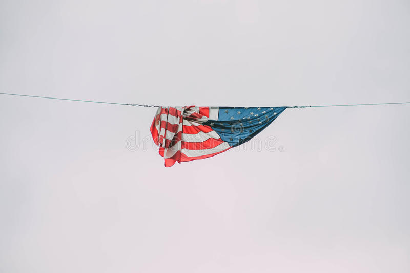 La stella Spangled la bandiera fotografia stock libera da diritti
