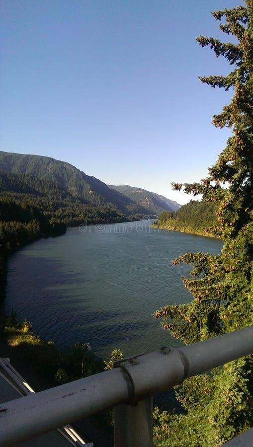 La stessa vista della gola del fiume Columbia immagine stock libera da diritti