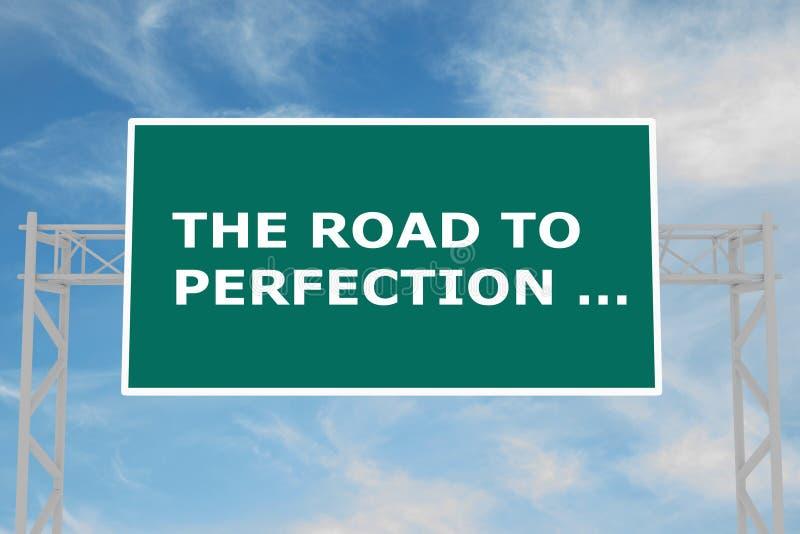 La strada al concetto di perfezione Â… illustrazione di stock
