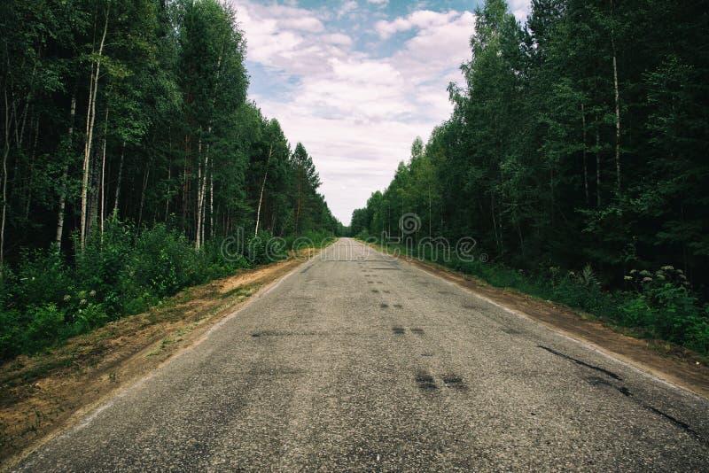 La strada all'infinito fotografia stock