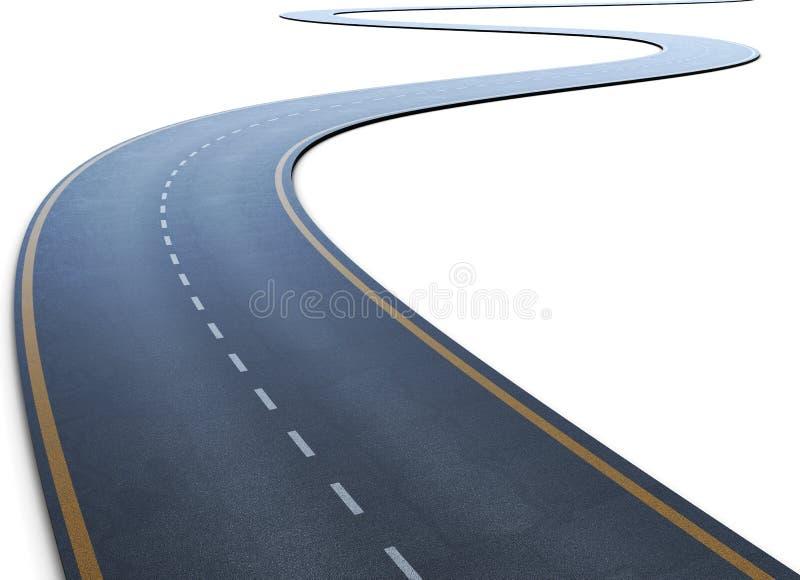 La strada con una marcatura che va ad una distanza illustrazione di stock