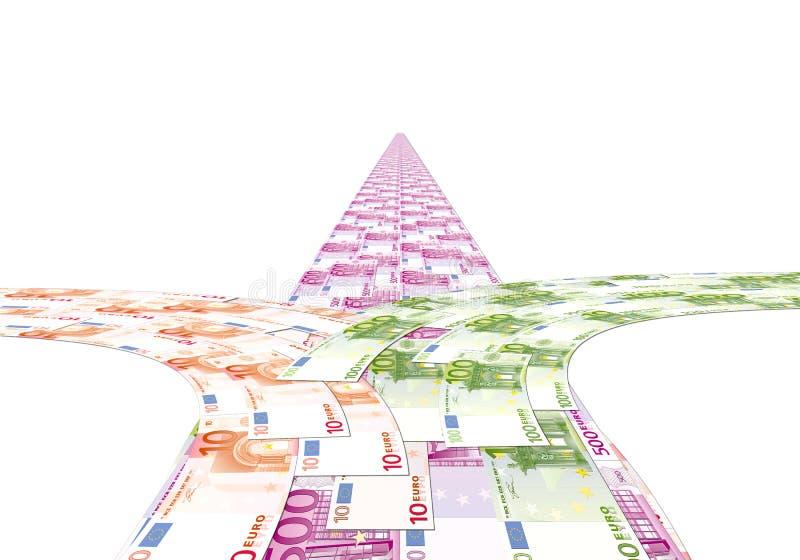 La strada dai soldi, la scelta del percorso royalty illustrazione gratis