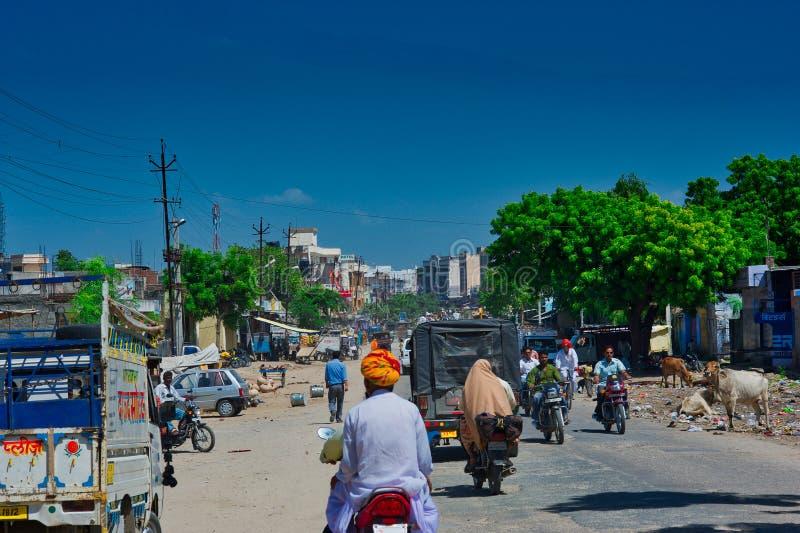 La strada in Delhi immagini stock
