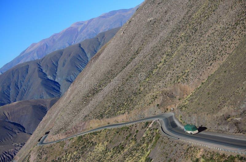 La strada della montagna sul Nord dell'Argentina fotografia stock libera da diritti
