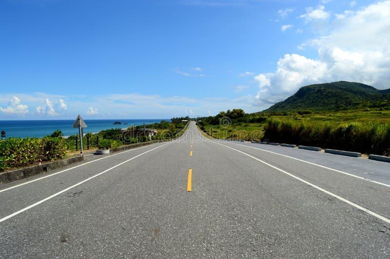 La strada della spiaggia fotografie stock libere da diritti