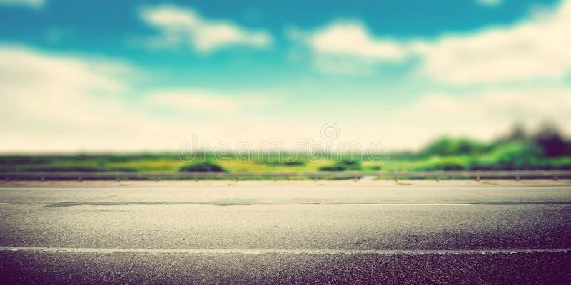 La strada di modo della velocità offusca panoramico fotografie stock