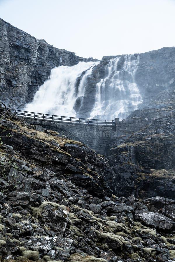 La strada di Troll in Norvegia fotografia stock libera da diritti