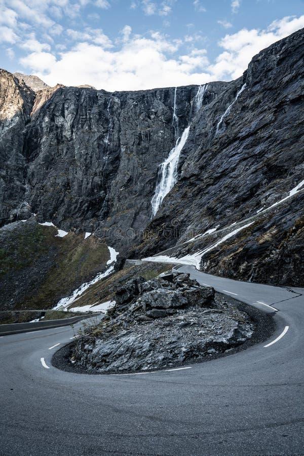 La strada di Troll in Norvegia fotografie stock libere da diritti