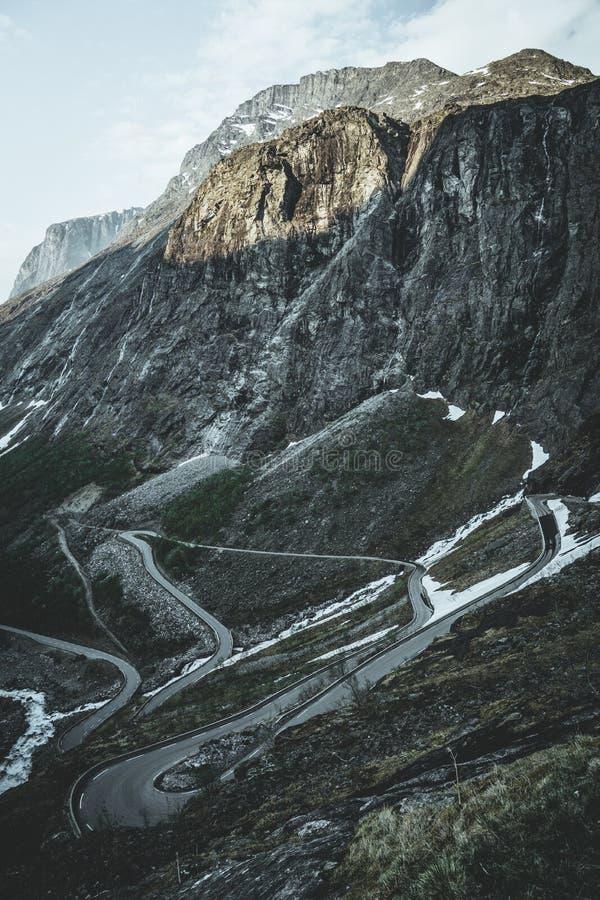La strada di Troll in Norvegia fotografia stock
