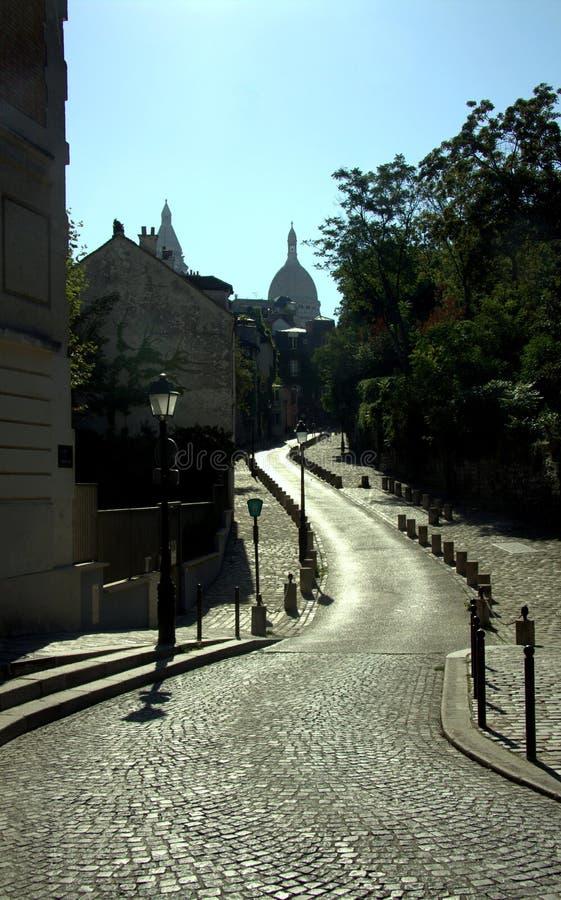 La strada a Parigi fotografia stock