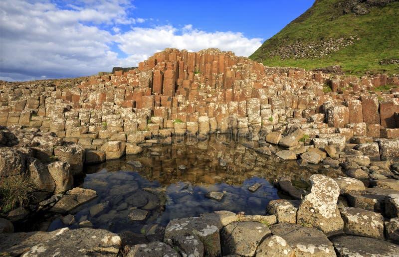 La strada soprelevata del gigante, Co Antrim, Irlanda del Nord fotografia stock libera da diritti