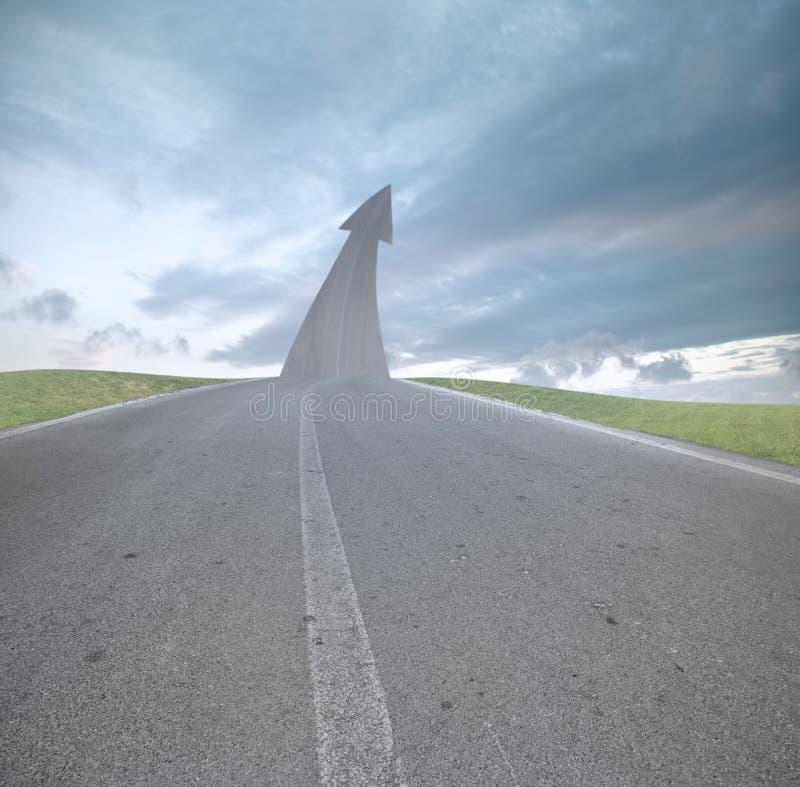 La strada a successo immagine stock