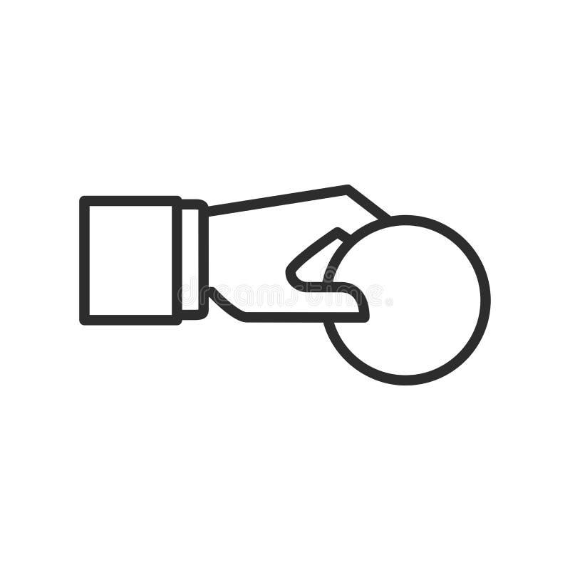 La stratégie commerciale a rapporté la ligne icône, vecteur de vecteur d'icône d'investisseurs image libre de droits