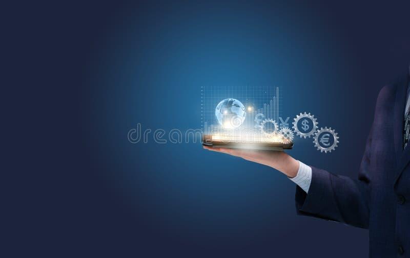 La stratégie est efficace dans le commerce financier global images stock