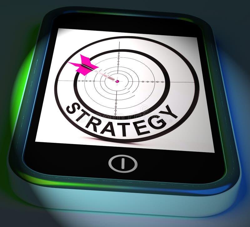La stratégie Smartphone montre la tactique et la stratégie de méthodes illustration de vecteur
