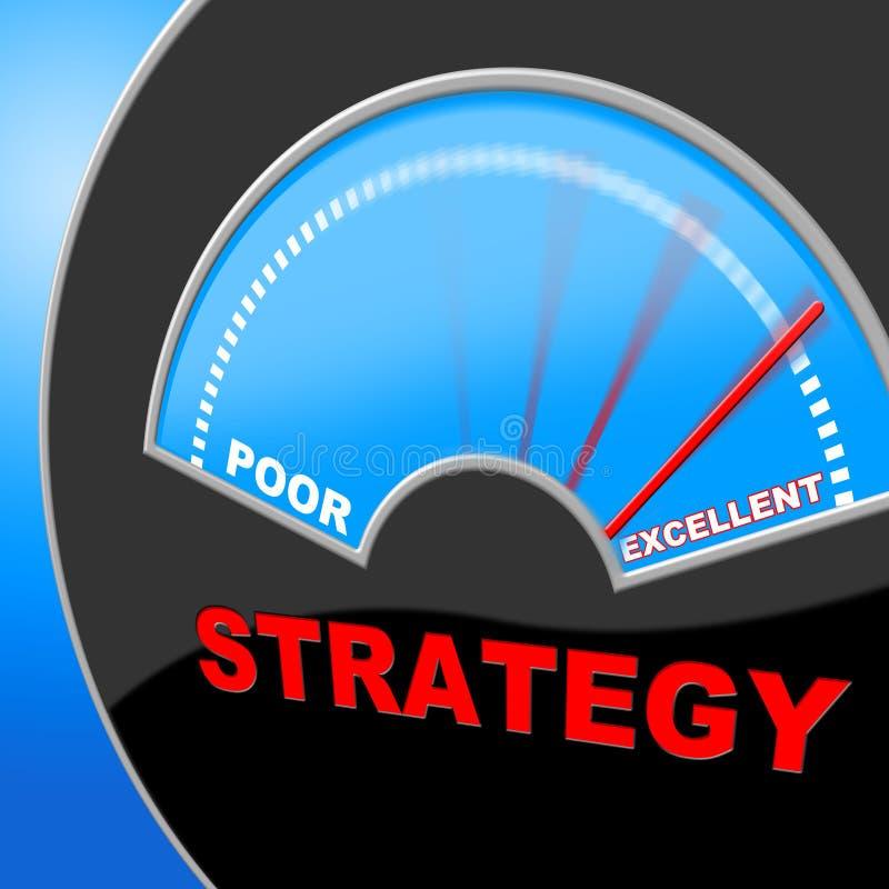 La strategia eccellente rappresenta l'eccellenza di tattiche e perfeziona royalty illustrazione gratis