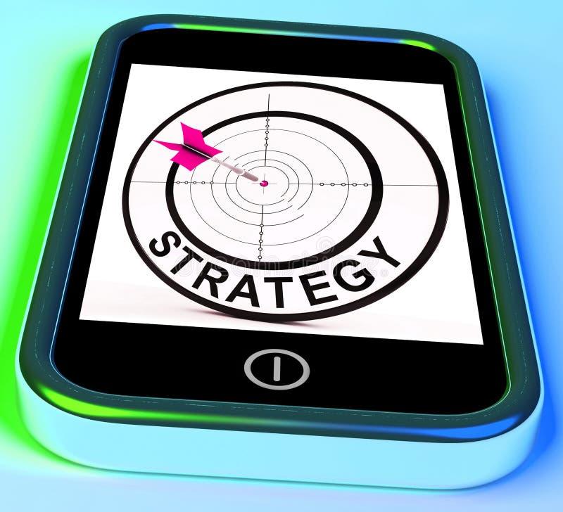 La strategia Smartphone significa le tattiche ed il piano tattico di metodi illustrazione di stock