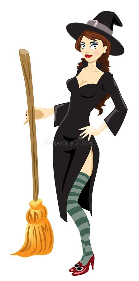 La strega di Hottie illustrazione vettoriale